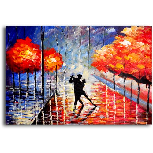My Art Outlet Dancing The Night Away Original Painting on Canvas
