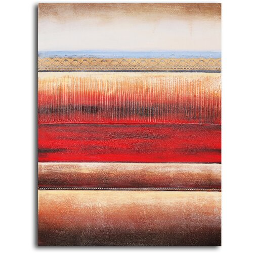 My Art Outlet 'Layered Textile Panel' Original Painting on Canvas