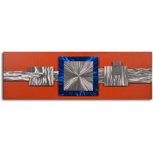 'Dimensional Metal Geometrics' Original Painting on Canvas