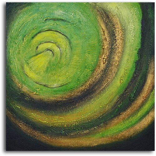 'The Green Abyss' Original Painting on Canvas
