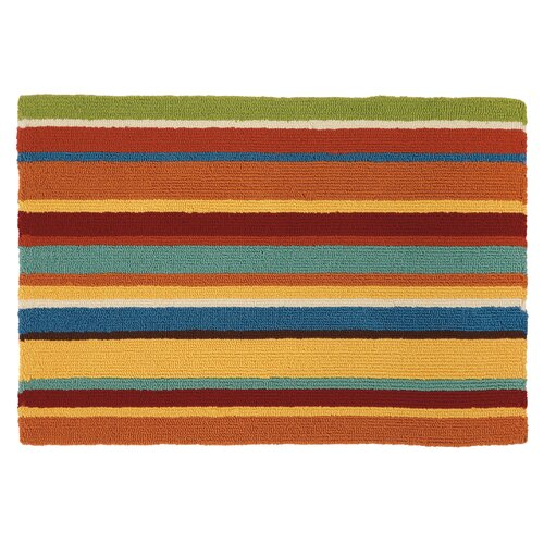 Cabana Orange Stripe Rug