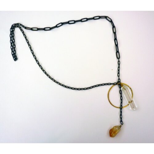 Rachel Paula Quartz and Citrine Necklace