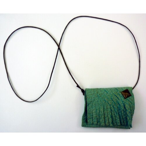 Ayana Jewelry Rachel Paula Leather Pouch Necklace
