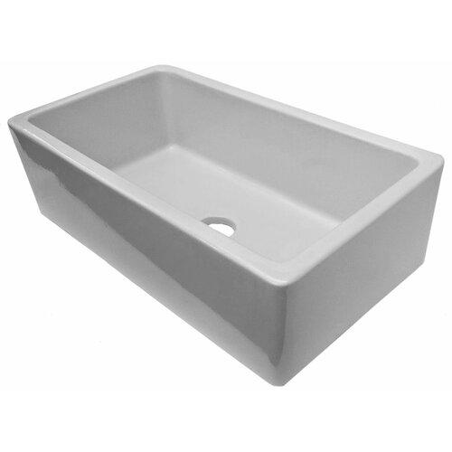33 Farmhouse Sink White Single Bowl : ... Brand 33
