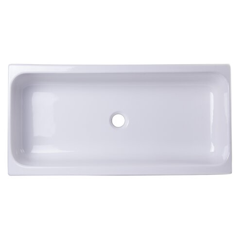 35 5 Above Mount Porcelain Bath Trough Sink Wayfair Supply