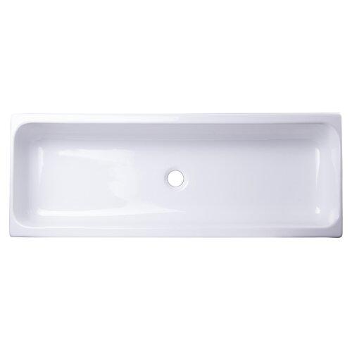 Above Mount Porcelain Bath Trough Sink Wayfair Supply