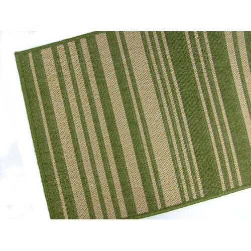 American Mills Barcode Emerald Indoor/Outdoor Rug