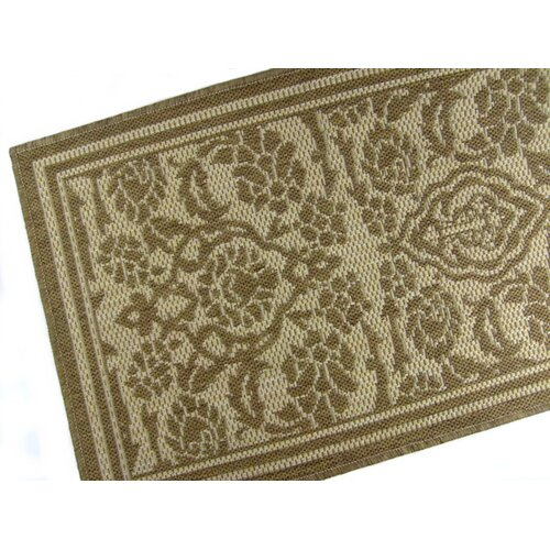 American Mills Damask Chocolate Indoor/Outdoor Rug