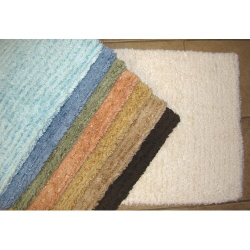 Solid Stripe Cotton Bath Mat