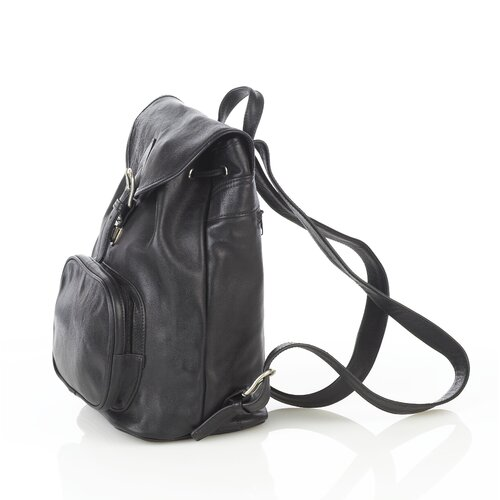 Aston Leather Backpack with Zippered Pocket