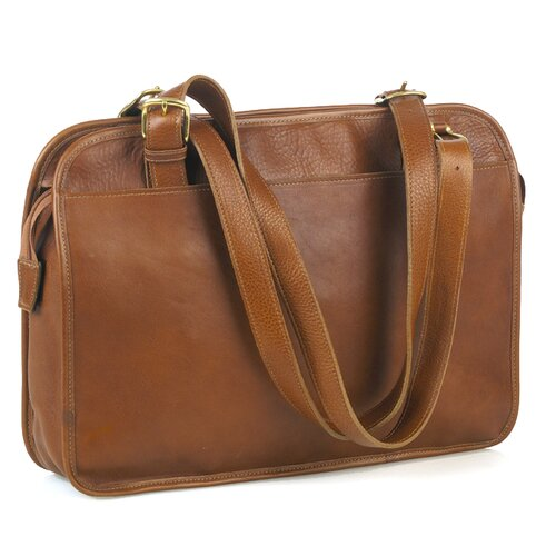 Aston Leather Zip Top Tote Bag
