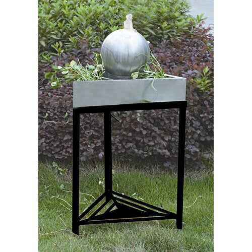 Unique Arts Triangular Tabletop Sphere Fountain with Legs