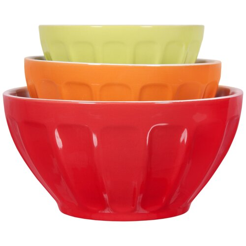 Home Essentials and Beyond Thumb Print Mixing Bowl