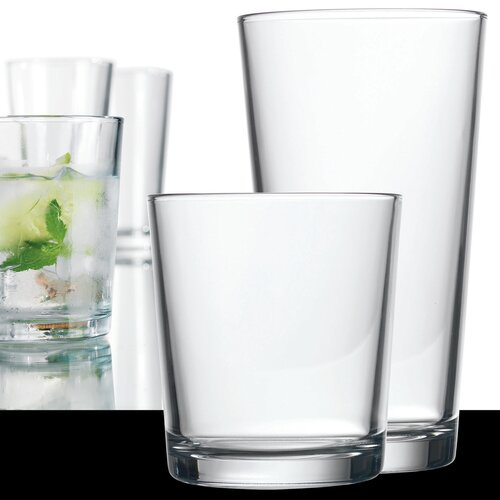 Home Essentials 16 Piece Alanya Plain Glass Set