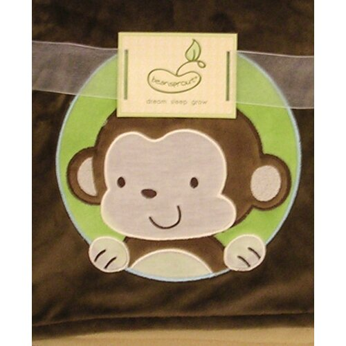 2 Ply Monkey Crib Throw Blanket
