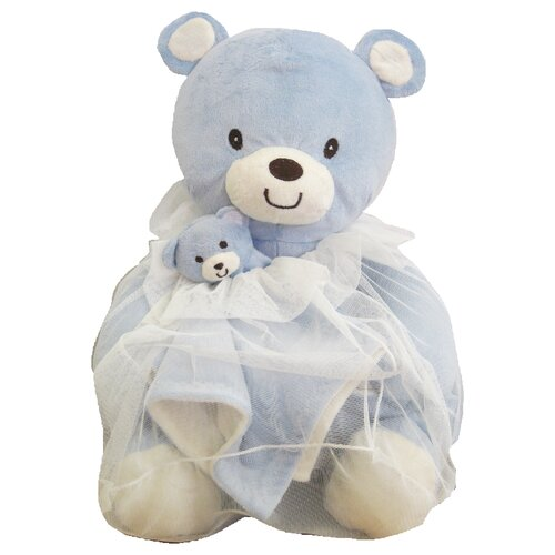 beansprout Toile Bag Bear Toy and Blanket
