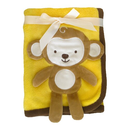beansprout 3D Monkey Crib Throw Blanket