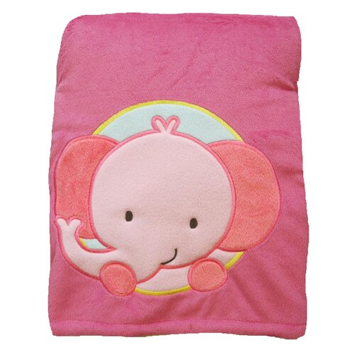 Butterfly Fleece Elephant Crib Throw Blanket