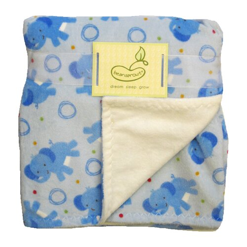 beansprout Toss Elephant Crib Throw Blanket