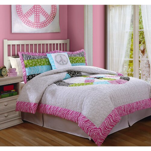 Bed Ink Peace Sign Comforter Set