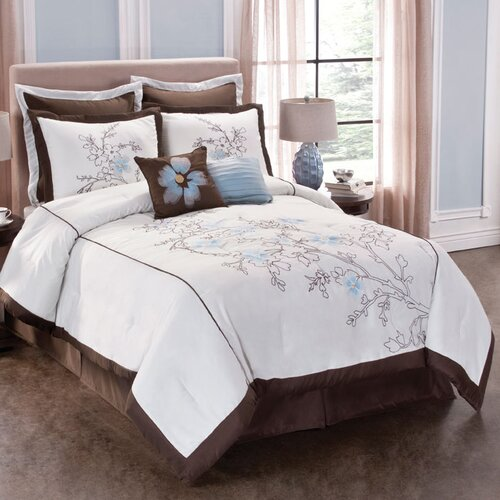 Tribeca Floral King Comforter Set with 4 Bonus Pieces