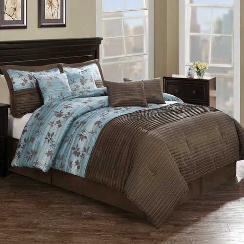 Monroe Pleat 8 Piece Comforter Set