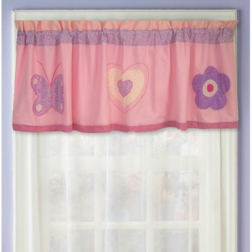 "My World Spring Hearts 70"" Curtain Valance"