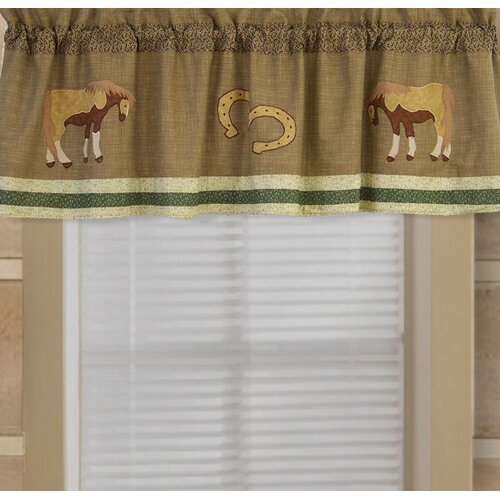 """Timber Trails Horses 70"""" Curtain Valance"""