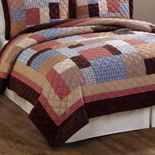 Timber Trails Rustic Plaid Patchwork Cotton Quilt