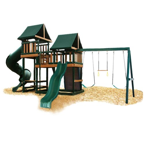 Kidwise Congo Monkey Green and Cedar Playsystem 3