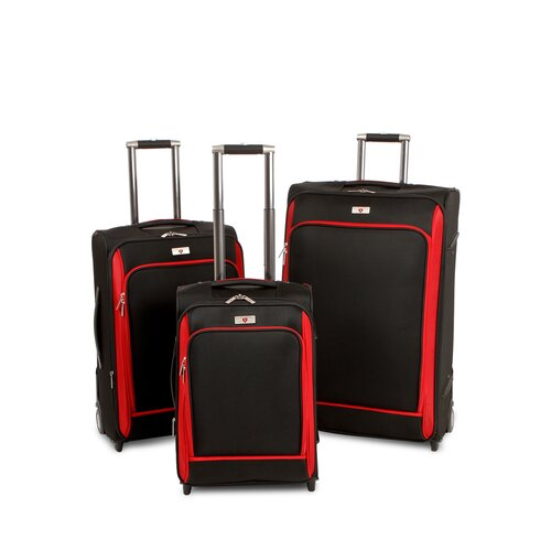 3 Pieces Expandable Wheeled Luggage Set