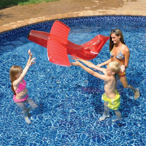 Red Airplane Glider Inflatable Pool Toy