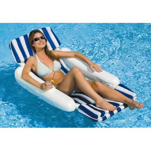 Swimline SunChaser Padded Floating Luxury Chair Pool Lounger