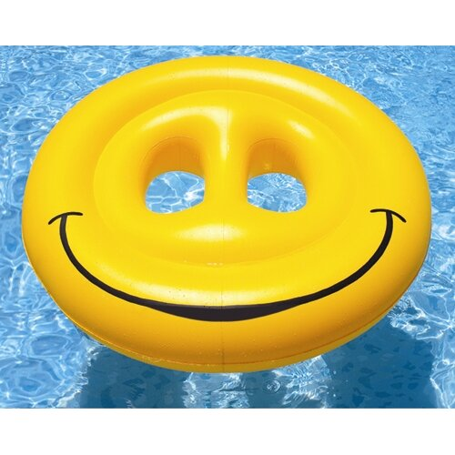 Smiley Face Island Pool Raft