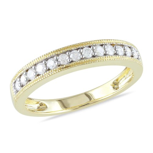 Gold Round Cut Diamond Wedding Ring