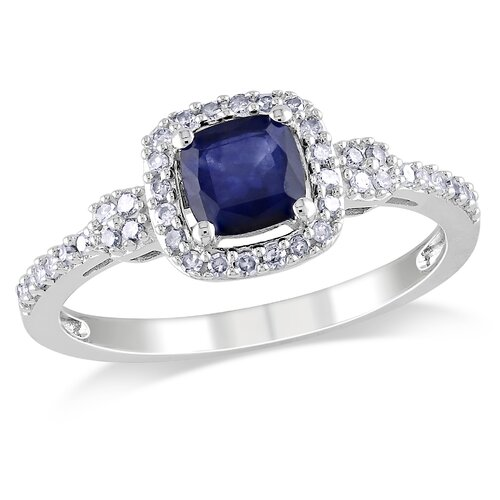 Gold Cushion Cut Sapphire Ring