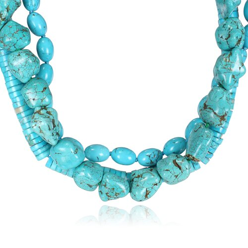 Amour Bead Necklace in Turquoise