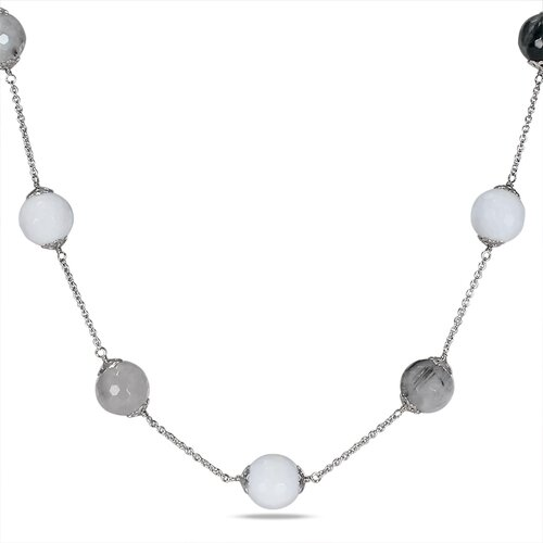 Endless Necklace with Silver Chain