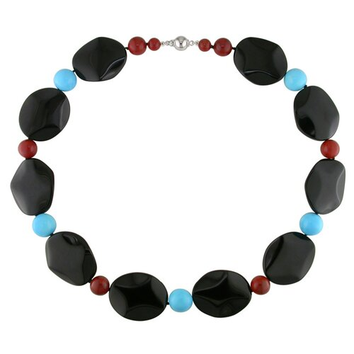 Amour Beads Necklace with Silver Ball Clasp