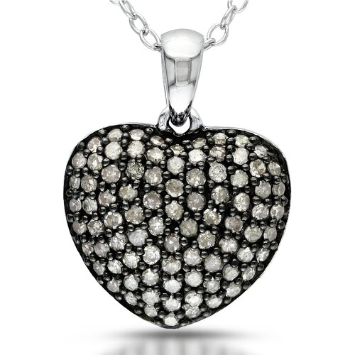 Half Carat Diamond Heart Pendant