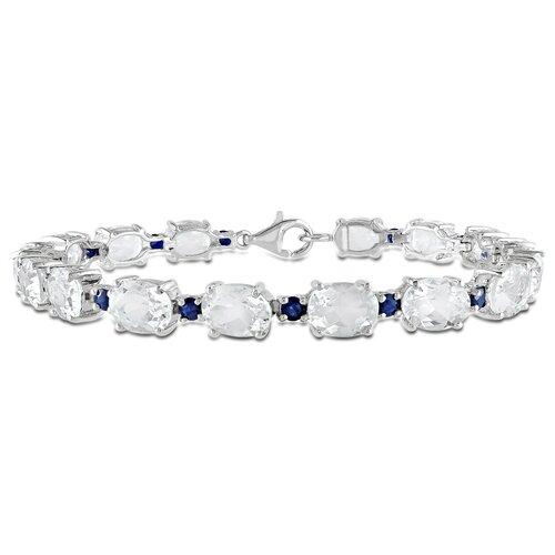 Oval Cut Topaz Sapphire Bracelet