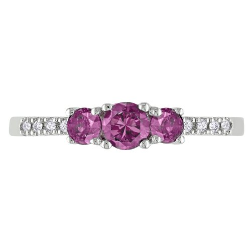 Amour White Gold Round Cut Alexandrite Multi Stone Ring