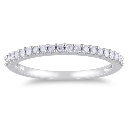 Amour White Gold Round Cut Diamond Eternity Ring