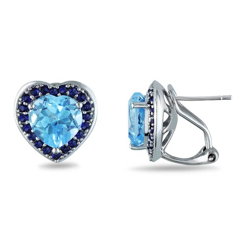 Amour Heart Cut Gemstone Stud Earrings