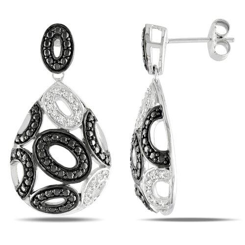 Amour Round Cut Diamond Drop Earrings