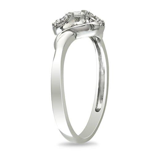 Amour White Gold Round Cut Diamond Fashion Ring