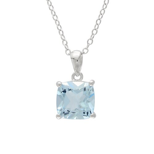 Amour Cushion Topaz Gemstone Pendant