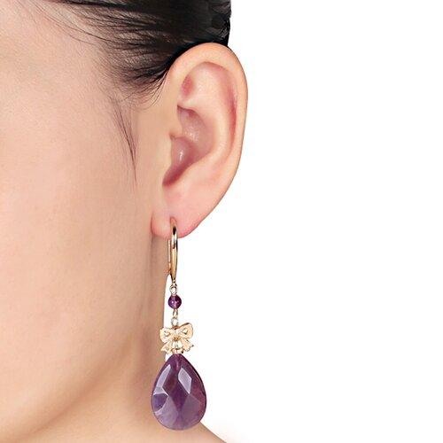 Amour Pear Amethyst Dangle Earrings