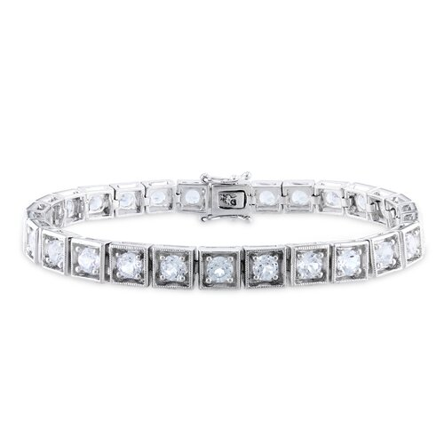 Round Cut Sapphire Tennis Bracelet