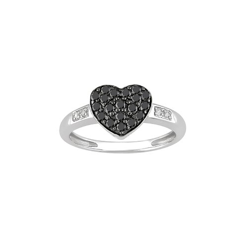 White Gold Round Cut Diamond Heart Ring